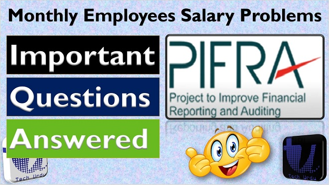 PIFRA Monthly Salary Slip Important Questions & Answers